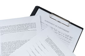 image of rental agreement  - associate aggrement form on isolated white background form - JPG