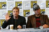 SAN DIEGO, CA - JULY 13: Alan Tudyk & Adam Baldwin attends a press conference for