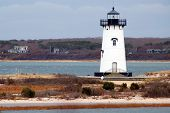 stock photo of martha  - The lighthouse at Chappaquiddick Martha - JPG
