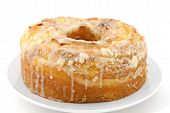 pic of pound cake  - A delicious lemon pound cake isolated on a white background - JPG