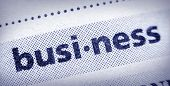 foto of glossary  - the word business in an English glossary super macro - JPG