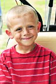 pic of crew cut  - Cute little blonde boy with a crew cut. ** Note: Slight graininess, best at smaller sizes - JPG