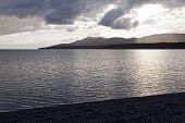 pic of tierra  - Sunset at fagnano lake tierra del fuego - JPG