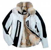 foto of jupe  - fur jacket isolated on white - JPG
