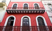 stock photo of san juan puerto rico  - Windows on an old building in Old San Juan Puerto Rico