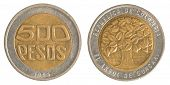 500 Colombian Pesos Coin
