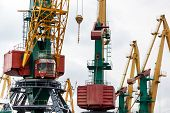 Large industrial crane