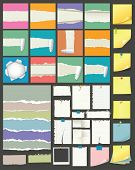 foto of clippers  - High detailed vector torn and note paper collection - JPG