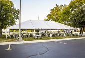 pic of canopy roof  - White banquet wedding tent or party tent - JPG