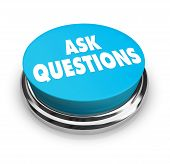 pic of pry  - A blue button with the words Ask Questions on it - JPG