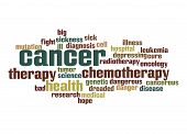stock photo of leukemia  - Cancer word cloud image with hi - JPG