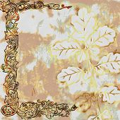 Vintage Shabby Chic Leaf Background