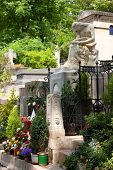 foto of chopin  - The tomb of the great Polish composer Frederic Chopin in Paris.