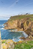 Lands End Cornwall England tourist attraction