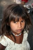 Hopeful Poor Indian Girl