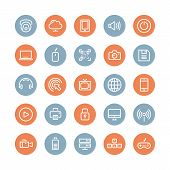 Multimedia And Technology Flat Icons Set