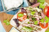 image of cheese-steak  - Grilled Beef Wraps  - JPG