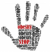 image of obese  - Stop obesity - JPG