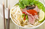 picture of rice noodles  - Pho Bo  - JPG