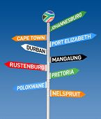 stock photo of south-western  - 3D render of the South Africa City Road sign - JPG