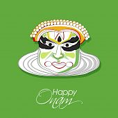 picture of onam festival  - Illustration of South Indian cultural dance Kathakali - JPG