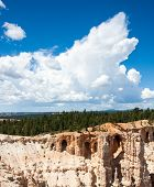 foto of grotto  - Grottos in the cliffs near Inspiration Point in Bryce Canyon National Park Utah - JPG