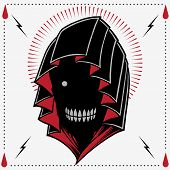 picture of reaper  - The Reaper Old school Tattoo Style Vector - JPG