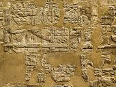pic of pharaoh  - Hieroglyphic of pharaoh civilization in Karnak temple - JPG