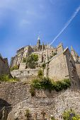 stock photo of michel  - Mont Saint Michel on brilliant summer day - JPG