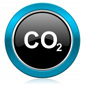 pic of carbon-dioxide  - carbon dioxide glossy icon co2 sign  - JPG