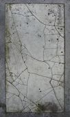 image of porphyry  - large slate tile of cracked worn damaged white marble - JPG