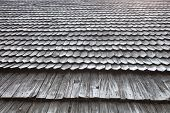 pic of shingles  - Old wooden shingle roof - JPG