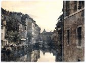 stock photo of annecy  - vintage photo of the city of Annecy  - JPG