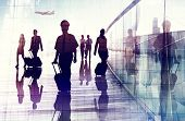 foto of cabin crew  - Travel Airport Business Cabin Crew Business Travel Concept - JPG