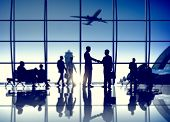 pic of air transport  - Airport Airplane Air Transportation Business Travel Concept - JPG