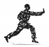 pic of judo  - abstract Judo silhouette on a white background - JPG