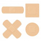 stock photo of bandage  - Bandage Vector Set - JPG