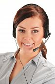 picture of telephone operator  - Call center operator - JPG