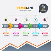 stock photo of fireball  - Timeline infographic with arrows - JPG