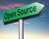 image of open-source  - open source program software program or economy freeware internet data computer sharing  - JPG