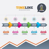 stock photo of arrow  - Timeline infographic with arrows - JPG
