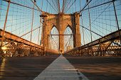 picture of brooklyn bridge  - Vintage Brooklyn Bridge At Sunrise - JPG