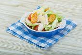 image of caesar salad  - Caesar salad with chicken and iceberg salad - JPG
