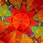 picture of symmetry  - Kaleidoscopic mandala circular abstract pattern - JPG
