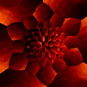 picture of surrealism  - Orange concentric flower pattern - JPG