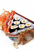pic of blue crab  - Japanese traditional Cuisine  - JPG