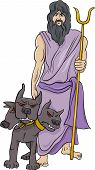 picture of sceptre  - Cartoon Illustration of Mythological Greek God Hades - JPG
