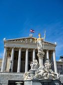 stock photo of goddess  - parliament in vienna - JPG