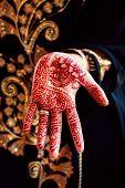 foto of henna tattoo  - Henna hand tattoo body art tradition color - JPG
