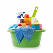 pic of detergent  - detergents and cleaning products isolated on white background - JPG